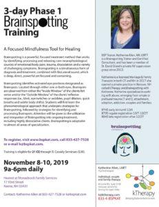 Flier for November 2019 BSP Phase 1 training in Keene, NH